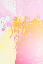 Pink And Yellow Abstract Design