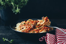 Food: Vegetarian Spaghetti Bolognese