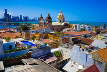 Old Town Of Cartagena In Colom...