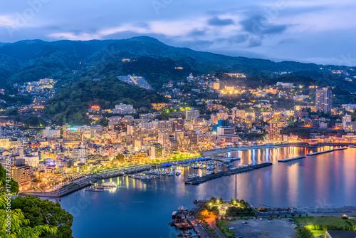 Fotografie, Obraz  Atami, Shizuoka, Japan skyline on Sagami Bay.
