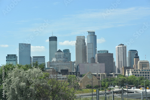 Fototapety, obrazy: Downtown Minneapolis in Minnesota