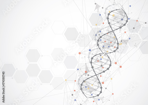 Science Template Wallpaper Or Banner With A Dna Molecules Buy