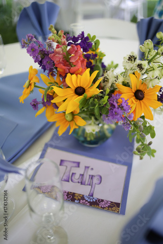 Wildflower Wedding Centerpieces With Black Eyed Susans Snapdragons