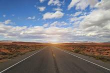 USA Nevada Highways At Sunny Day