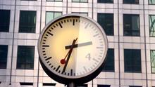 Building Clock Docklands Londo...