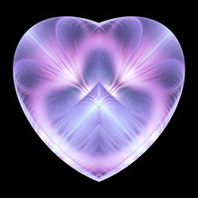 Abstract Crystal Violet Heart ...