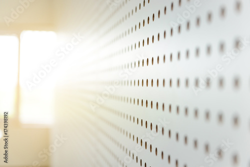 Fotografie, Tablou white soundproof wall, sound barrier, sound absorbing, background