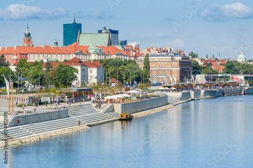 Obraz na dibondzie (fotoboard) Bulwary Wiślane w Warszawie