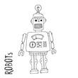 cartoon vector doodle robot