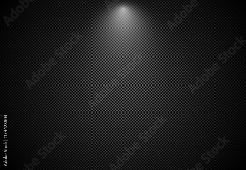 Abstract black striped background with spotlight, Vector