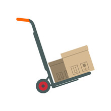 Packing Boxes On Hand Truck In...