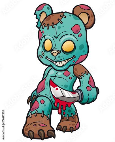 Printed kitchen splashbacks Indians Vector illustration of Cartoon Evil teddy bear