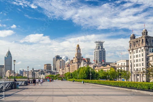 Shanghai, China cityscape at the Bund. Canvas Print