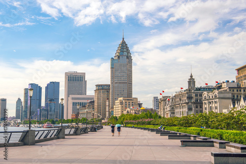 Shanghai, China cityscape at the Bund.