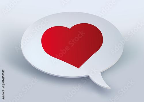 Cœur Amour Je Taime Déclaration Bulle Amoureux