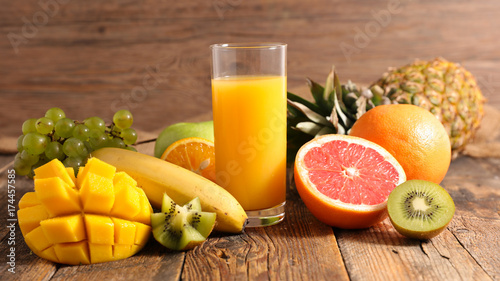 Staande foto Sap fruit juice