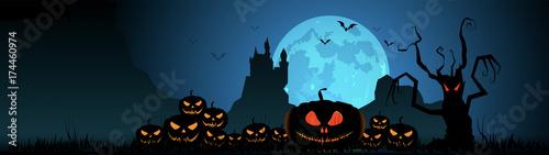 Halloween, zucche, zucca, paura, tutti i santi Canvas