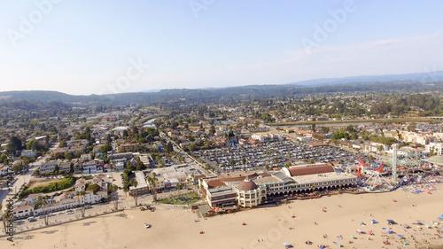 Santa Cruz, California. Beautiful aerial coastline Wallpaper Mural