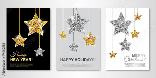 Happy New Year, Happy Holidays and Merry Christmas greeting cards ...