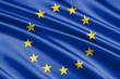 Leinwanddruck Bild - waving flag european Union