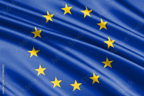 Foto  waving flag european Union