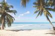 Tropical island beach, background photo