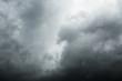 Closeup black cloud dramatic