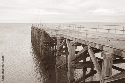 Old Pier at Trefor; Caernarfon; Wales; UK