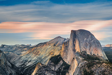 Yosemite Half Dome At Sunset, ...