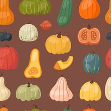 Fresh Pumpkin Seamless Pattern...