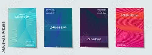 Fototapety, obrazy: Covers design set. Abstract, minimal, geometric pattern.