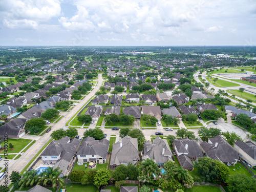 Fotografie, Obraz  Aerial view of a suburban neighborhood