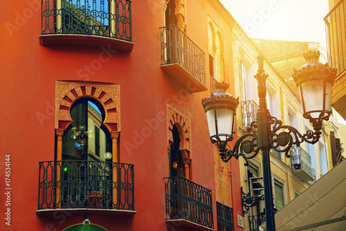 Malaga old town streets Wallpaper Mural