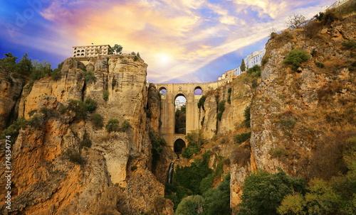 Carta da parati Ronda, Puente Nuevo Arch (Puente Nuevo Bridge)