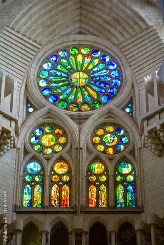 Photo  Sagrada Familia, interior view in Barcelona