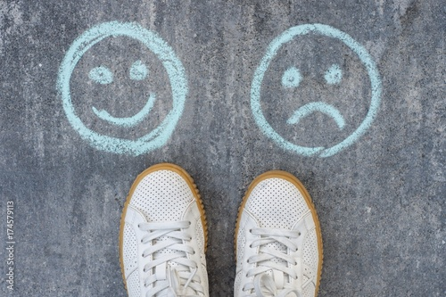 Fotografie, Obraz  Choice - Happy Smileys or Unhappy