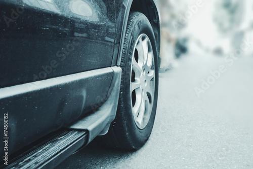 Fototapeta samochód na jezdni
