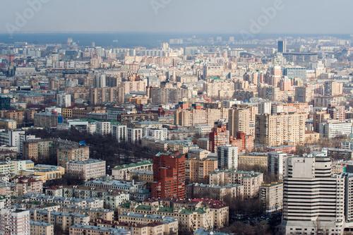 Plakat Widok na miasto z wysokości