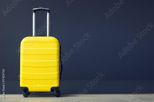 Yellow suitcase. Canvas Print