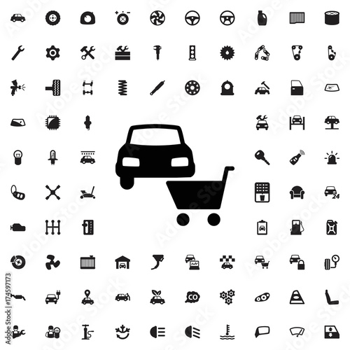 Car Shop Icon Set Of Filled Car Service Icons Buy This Stock
