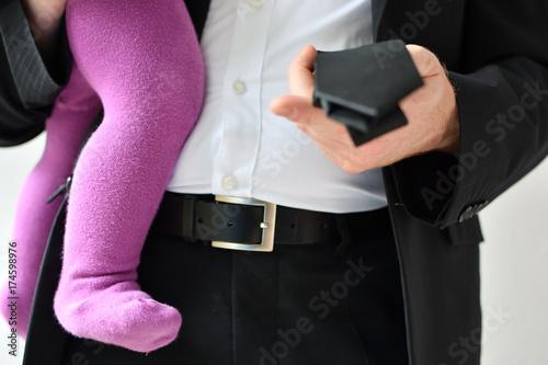 Fotografia  Geschäftsmann mit Kind