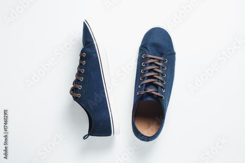 Fotografia  Fashionable men's shoes isilated on white background