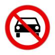 Verbotsschild Auto