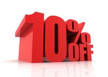 Ten Percent Off Sale Concept  3d Illustration