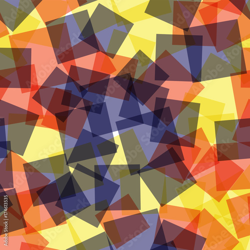 Foto op Aluminium ZigZag Abstract squares pattern. White geometric background. Breathtaking random squares. Geometric chaotic decor. Vector illustration.
