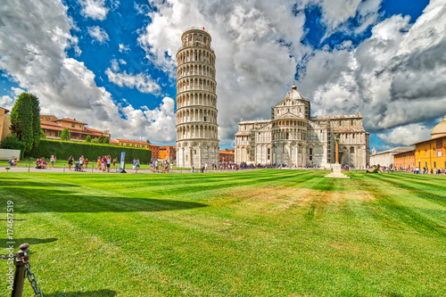 Fotografie, Obraz Public square of miracle in Pisa
