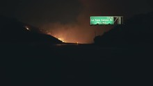 Empty Highway During Wildfire