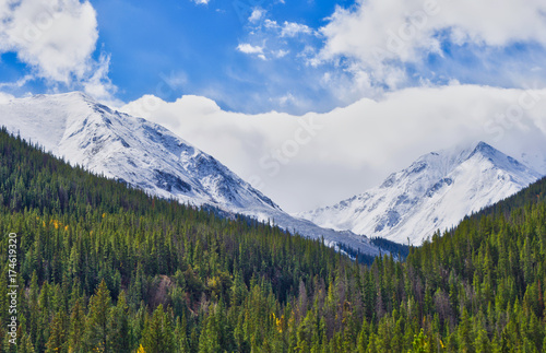 Autumn Snow Fall in the Colorado Rocky Mountains