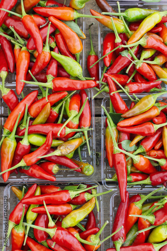 In de dag Hot chili peppers Hot chile peppers