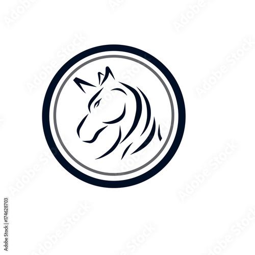 Fototapety, obrazy: horse logo